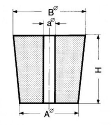 Slika za rubber stopper 18x24x30mm