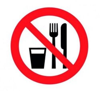 "Slika za prohibitiv sign ""food and drink prohibit"