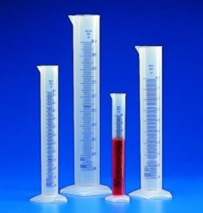 Slika za Graduated cylinders, PP, class B, embossed scale