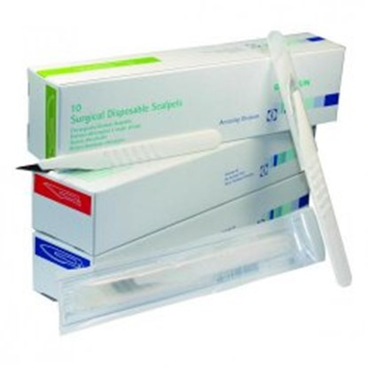 Slika za disposable scalpels,sterile,size 10,pack