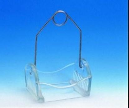 Slika za staining rack,glass,for 10 slides,withou