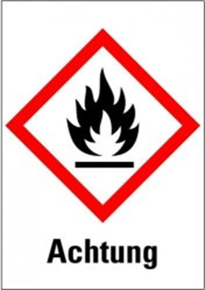 "Slika za hazardous material symbols ""warning of f"