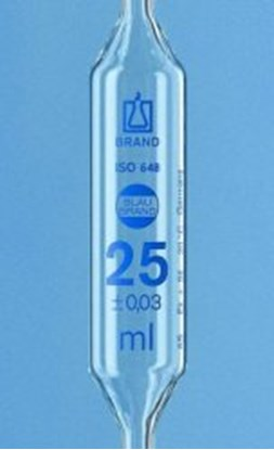 Slika za volumetric pipet 20 ml, with 2 marks