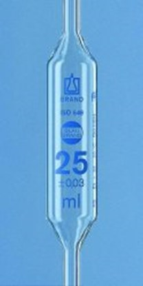 Slika za volumetric pipet 25 ml, with 2 marks
