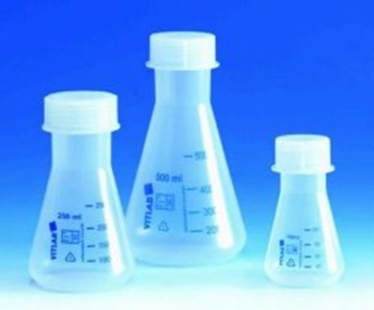 Slika za Erlenmeyer flasks with screw neck, PP