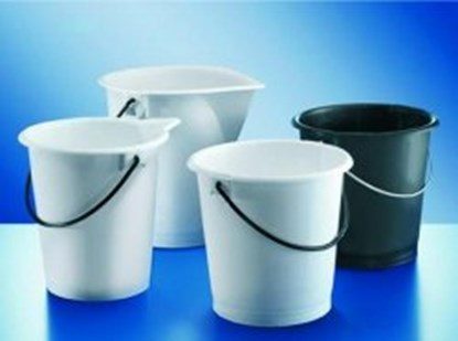 Slika za buckets,pe-hd,with handle,cap. 10 ltrs,g