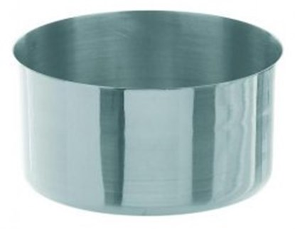 Slika za evaporating dish flat shap, 18/8 steel