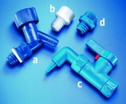 Slika za stopcock, plastic, blau