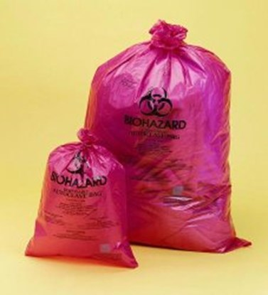 Slika za Biohazard Disposal Bags, PP, Red, 38µm